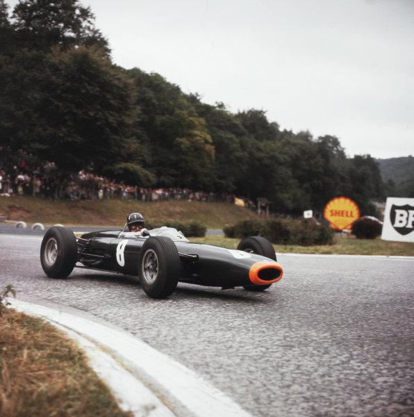 Rouen-les-Essarts, France.26-28 June 1964.Graham Hill (BRM P261) 2nd position.Ref-3/1289B.World Copyright - LAT Photographic