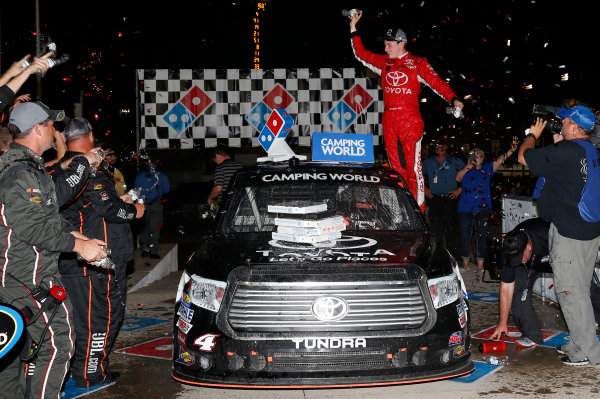 25 June, 2016, Madison, Illinois USA Christopher Bell celebrates his win ?2016, Russell LaBounty LAT Photo USA