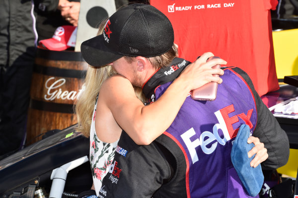 5-7 August, 2016, Watkins Glen, New York USA Denny Hamlin, FedEx Freight Toyota Camry (11), celebrates in victory lane. ©2016, JohnHarrelson / LAT Photo USA
