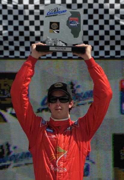 6-7 September, 2008, Joliet, Illinois USAArie Luyendyk Jr. celebrates victory©2008, Dan Boyd, USALAT Photographic