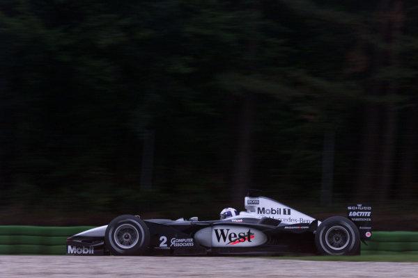 2000 German Grand Prix.Hockenheim, Germany. 28-30 July 2000.David Coulthard (McLaren MP4/15 Mercedes) 3rd position. World Copyright - Bellanca/LAT Photographicref: 5mb digital Practice