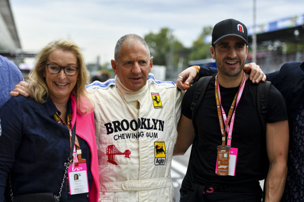 Jody Scheckter, with wife Clare and son Tomas Scheckter (from his first wife Pamela)