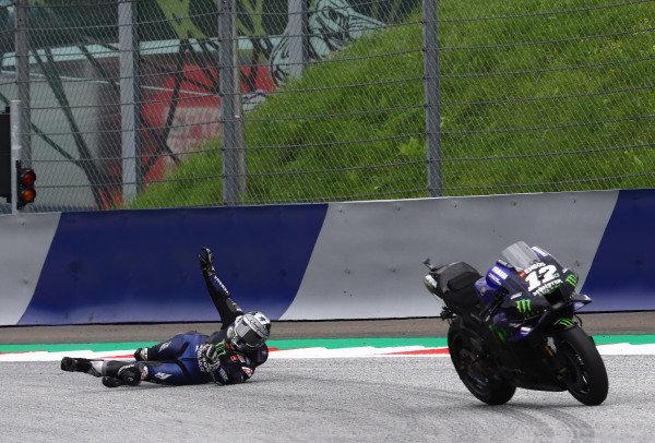 Maverick Vinales, Yamaha Factory Racing crash.