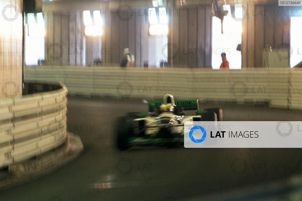 1996 Monaco Grand Prix.Monte Carlo, Monaco.Giancarlo Fisichella in the tunnel.World Copyright - LAT Photographic