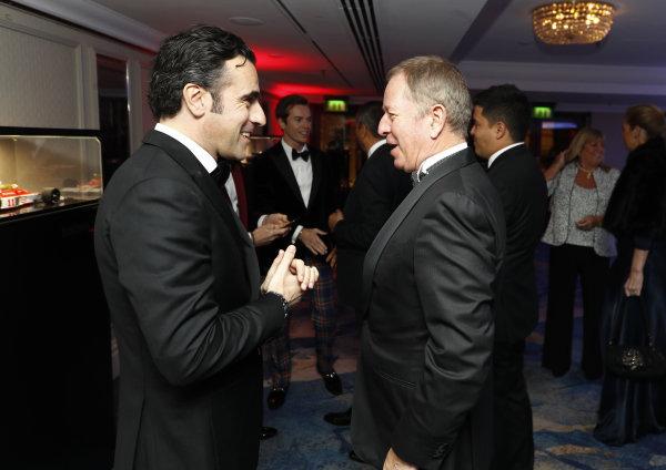 Dario Franchitti with Martin Brundle