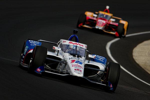 #15: Graham Rahal, Rahal Letterman Lanigan Racing Honda, #98: Marco Andretti, Andretti Herta-Haupert with Marco & Curb-Agajanian Honda