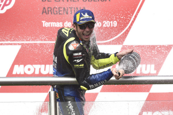 Podium: second place Valentino Rossi, Yamaha Factory Racing.