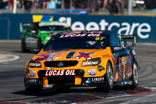 2015 V8 Supercars Round 3. Perth Super Sprint, Barbagallo Raceway, Western Australia, Australia. Friday 1st May - Sunday 3rd May 2015. Shane Van Gisbergen drives the #97 Tekno Autosports Holden VF Commodore  World Copyright: Daniel Kalisz/LAT Photographic Ref: Digital Image V8SC15_PERTHR3_DKIMG0990.JPG