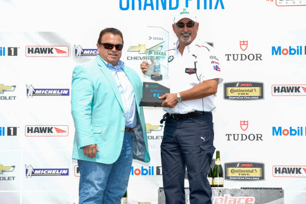 10-12 July 2015, Bowmanville, Ontario Canada 24, BMW, Z4 GTE, GTLM, Dekra's Don Nicholson and Bobby Rahal Dekra Green Challenge Award  ©2015 Scott R LePage  LAT Photo USA