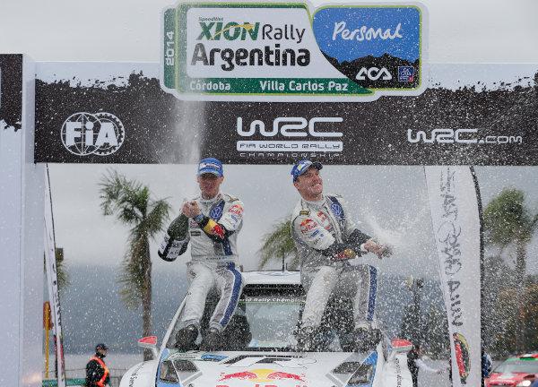 2014 World Rally Championship Rally Argentina 8th - 11th May 2014 Jari Matti Latvala, Mikka Anttila, VW, podium Worldwide Copyright: McKlein/LAT