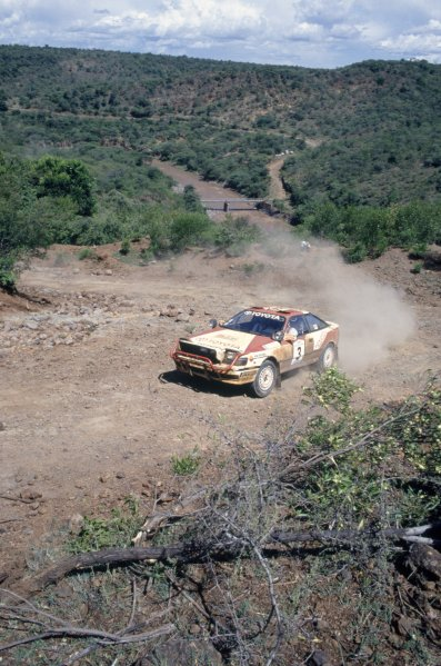 1990 World Rally Championship. Safari Rally, Kenya. 11-16 April 1990. Bjorn Waldegaard/Fred Gallagher (Toyota Celica GT4), 1st position. World Copyright: LAT Photographic Ref: 35mm transparency 90RALLY02