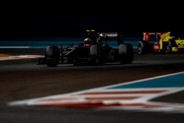 2016 GP2 Series Test 3 Yas Marina Circuit, Abu Dhabi, United Arab Emirates. Friday 2 December 2016. Artem Markelov (RUS, RUSSIAN TIME)  Photo: Zak Mauger/GP2 Series Media Service. ref: Digital Image _L0U4801