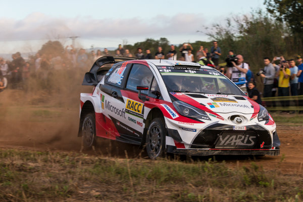 2017 FIA World Rally Championship, Round 11, Rally RACC Catalunya / Rally de España, 5-8 October, 2017, Jari-Matti Latvala, Toyota, action, Worldwide Copyright: LAT/McKlein