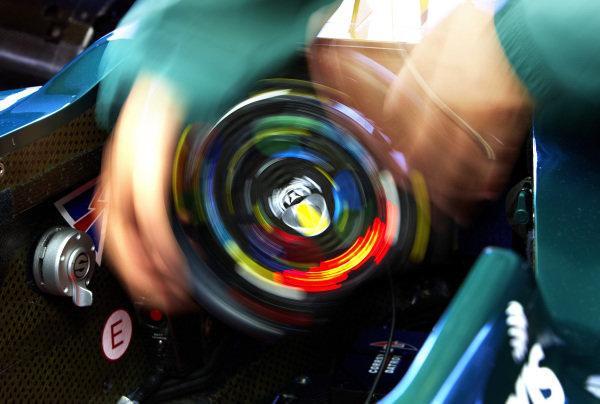 Circuit Gilles Villeneuve, Montreal, Canada10th June 2010The Steering Wheel of the Lotus T127 Cosworth. Detail.World Copyright: Steve Etherington/LAT Photographicref: Digital Image SNE24249