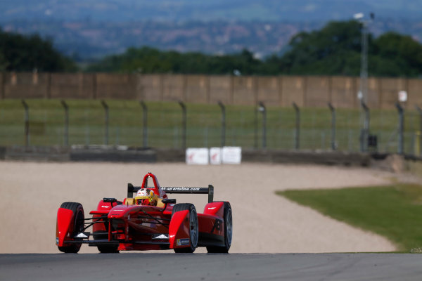 FIA Formula E Test Day, Donington Park, UK.  9th - 10th July 2014.  Daniel Abt, Audi Sport Abt. Photo: Sam Bloxham/FIA Formula E ref: Digital Image _SBL1241