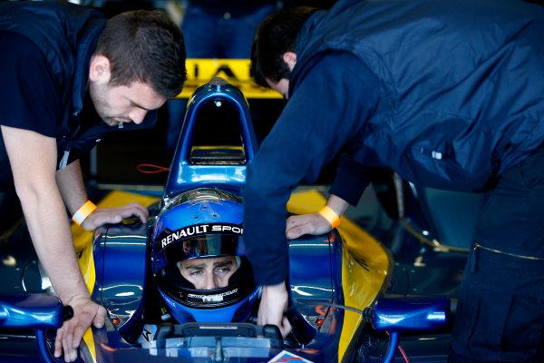 FIA Formula E Test Day, Donington Park, UK.  9th - 10th July 2014.  Nicolas Prost, e.dams. Photo: Glenn Dunbar/FIA Formula E ref: Digital Image _89P3307