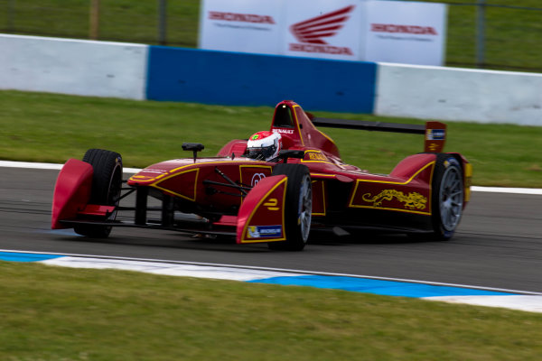 2014 Formula E Championship Donington Park Test Jerome d'Ambrosio (FR) China Racing Antonio Garcia () China Racing Friday 4 July 2014. Photo Agency:LAT Photographic ref: Digital Image F80P7865