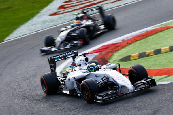 Autodromo Nazionale di Monza, Monza, Italy. Sunday 7 September 2014. Felipe Massa, Williams FW36 Mercedes, leads Esteban Gutierrez, Sauber C33 Ferrari. World Copyright: Andy Hone/LAT Photographic. ref: Digital Image _ONZ1074