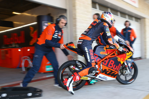 2017 Moto3 Championship - Round 3 Circuit of the Americas, Austin, Texas, USA Sunday 23 April 2017 Bo Bendsneyder, Red Bull KTM Ajo World Copyright: Gold and Goose Photography/LAT Images ref: Digital Image Moto2-W-500-2599