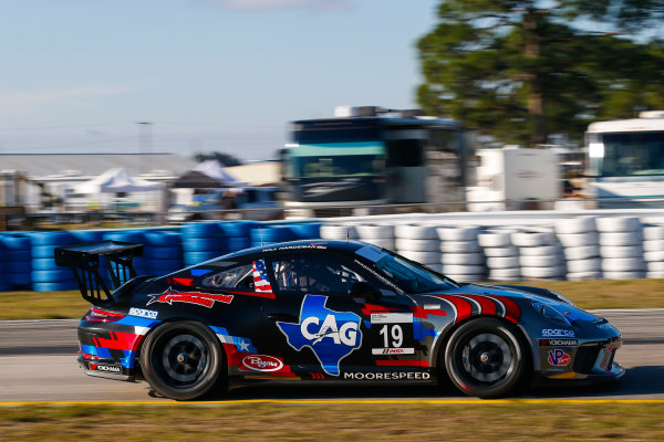 2017 Porsche GT3 Cup USA Sebring International Raceway, Sebring, FL USA Wednesday 15 March 2017 19, Will Hardeman, GT3P, USA, 2017 Porsche 991 World Copyright: Jake Galstad/LAT Images ref: Digital Image lat-galstad-SIR-0317-14865