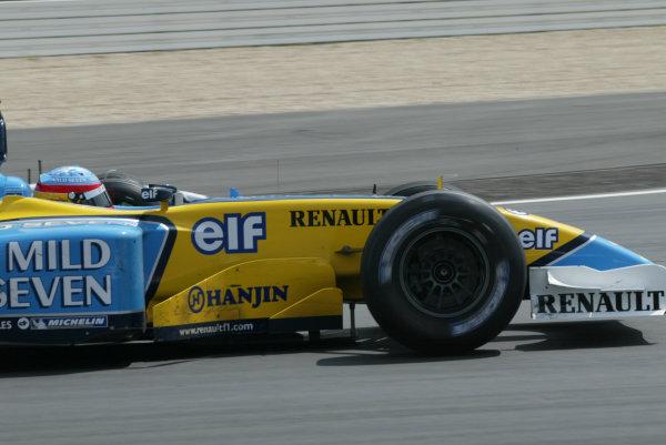 2003 European Grand Prix - Sunday Race,Nurburgring, Germany. 29th June 2003 Fernando Alonso, Renault R23, action.World Copyright: Steve Etherington/LAT Photographic ref: Digital Image Only