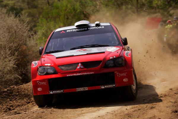 2004 FIA World Rally Champs. Round seven, Rally Turkey.24th- 27th June 2004.Gilles Panizzi, Mitsubishi, action.World Copyright: McKlein/LAT
