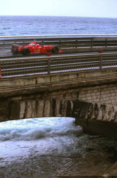 Monte Carlo, Monaco.8-11 May 1997.Eddie Irvine (Ferrari F310B) 3rd position.Ref-97 MON 02.World Copyright - LAT Photographic