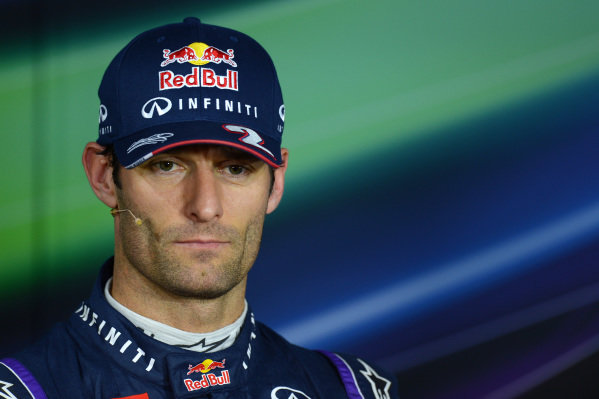 Mark Webber (AUS) Red Bull Racing, who qualified third, in the Press Conference. Formula One World Championship, Rd9, German Grand Prix, Qualifying, Nurburgring, Germany, Saturday 6 July 2013.