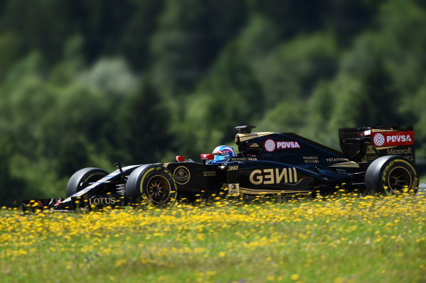 Jolyon Palmer (GBR) Lotus E23 Hybrid at Formula One Testing, Day Two, Spielberg, Austria, Wednesday 24 June 2015.