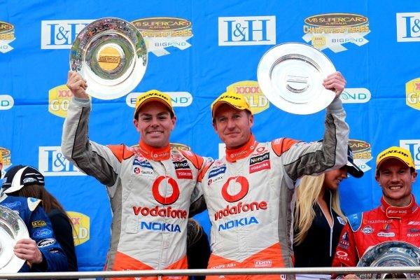 Craig Lowndes (AUS) and Mark Skaife (AUS) Team Vodafone 888 Commodore won the L&H 500.Australian V8 Supercars, Rd10, L&H 500, Phillip Island, Australia, 12 September 2010.