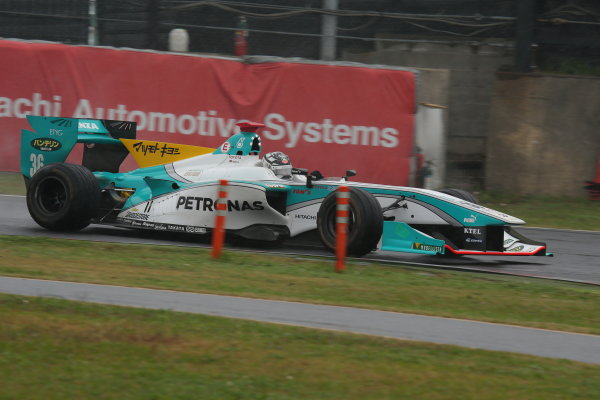 2014 Super Formula Series. Suzuka, Japan. 9th - 10th November 2014. Rd 7. Race 1 - 3rd position Andre Lotterer ( #36 PETRONAS TOM'S SF14 ) action World Copyright: Yasushi Ishihara / LAT Photographic. Ref:  2014_SF_Rd7_011.JPG