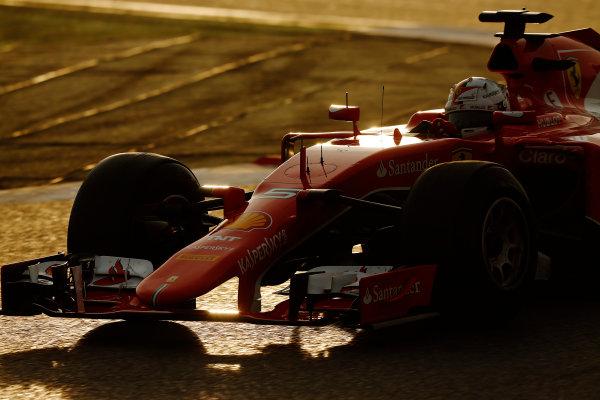 2015 F1 Pre Season Test 3 - Day 4 Circuit de Catalunya, Barcelona, Spain. Sunday 01 March 2015. Sebastian Vettel, Ferrari SF15-T. World Copyright: Sam Bloxham/LAT Photographic. ref: Digital Image _14P5462