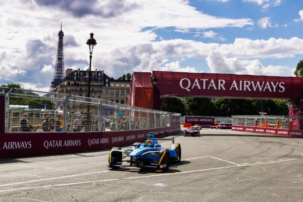2016/2017 FIA Formula E Championship. Qatar Airways Paris ePrix, France. Saturday 20 May 2017. Sebastien Buemi (SUI), Renault e.Dams, Spark-Renault, Renault Z.E 16. Photo: Steven Tee/LAT/FIA Formula E ref: Digital Image _R3I4551
