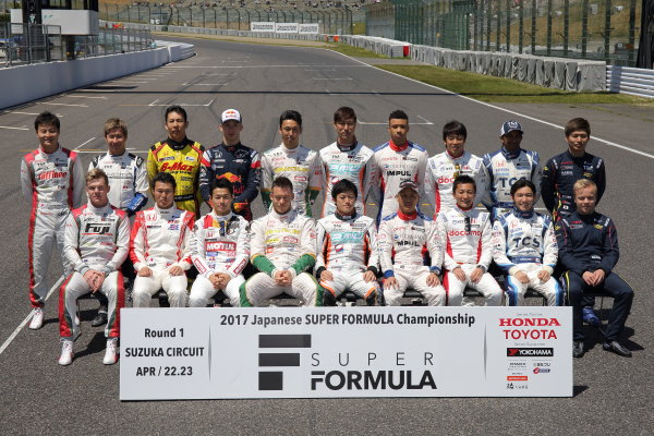 2017 Japanese Super Formula. Suzuka, Japan. 22nd - 23rd April 2017. Rd 1. Drivers portrait. World Copyright: Yasushi Ishihara / LAT Images. Ref: 2017SF_Rd1_016