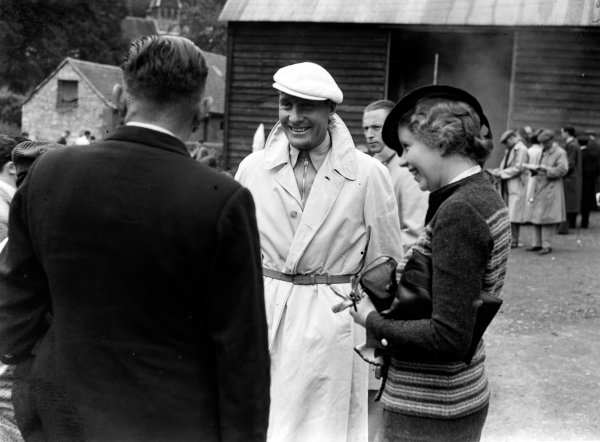 Shelsley Walsh, England. 6th June 1936Hans Stuck (Auto Union C) in the paddock, portrait. World Copyright: LAT Photographic.