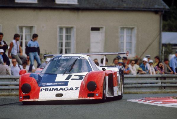 Le Mans, France. 15th -16th  June 1985.Yves Courage/Alain de Cadenet/Jean-Franois Yvon (Cougar C12 Porsche), 20th position, action. World Copyright: LAT Photographic.Ref:  85LM37