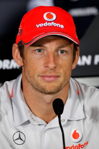 Autodromo Nazionale di Monza, Monza, Italy.9th September 2010.Jenson Button, McLaren MP4-25 Mercedes.World Copyright: Andrew Ferraro/LAT Photographicref: Digital Image _Q0C6522