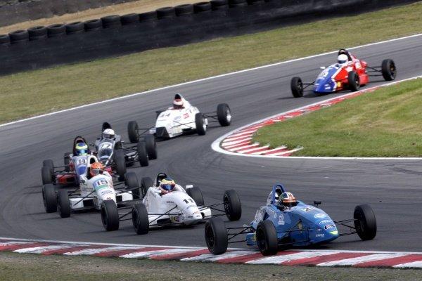 Kieran Vernon (GBR) won the scholarship class in race 2.British Formula Ford Championship, Rd7, Brands Hatch, England, 5-6 September 2009.