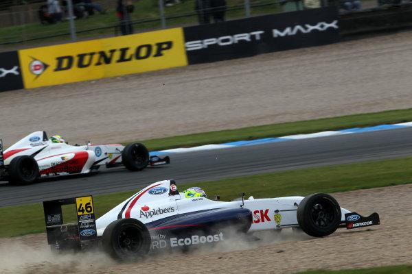 2015 MSA Formula Powered by Ford EcoBoost, Donington Park, Leicestershire. 16th - 19th April 2015. Rafael Martins (BRA) SWB Motorsport MSA Formula. World Copyright: Ebrey / LAT Photographic.