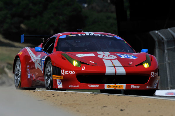 2-3 May, 2014, Monterey, California, USA 64, Ferrari, 458 Italia, GTD, Stefan Johansson, Kyle Marcelli ©2014 Scott R LePage  LAT Photo USA