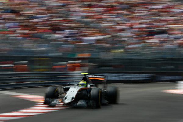 Monte Carlo, Monaco. Sunday 29 May 2016. Sergio Perez, Force India VJM09 Mercedes. World Copyright: Andrew Hone/LAT Photographic ref: Digital Image _ONZ7767
