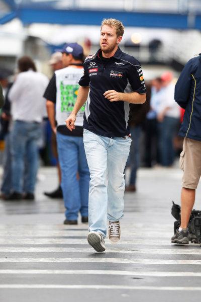 Interlagos, Sao Paulo, Brazil. Friday 22nd November 2013.  Sebastian Vettel, Red Bull Racing. World Copyright: Charles Coates/LAT Photographic. ref: Digital Image _N7T5219