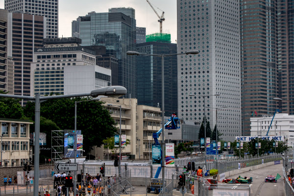 2016/2017 FIA Formula E Championship. Hong Kong ePrix, Hong Kong, China. Saturday 8 October 2016. Daniel Abt (GER), ABT Schaeffler Audi Sport, Spark-Abt Sportsline, ABT Schaeffler FE02.  Photo: Zak Mauger/LAT/Formula E ref: Digital Image _L0U0516