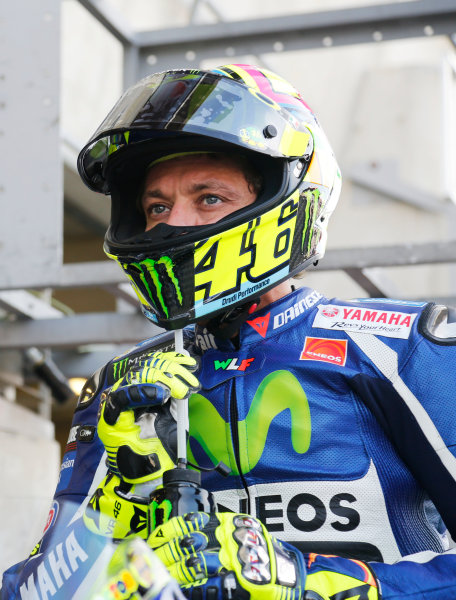 2016 MotoGP Championship.  French Grand Prix.  Le Mans, France. 6th - 8th May 2016.  Valentino Rossi, Yamaha.  Ref: _W5_3434a. World copyright: Kevin Wood/LAT Photographic
