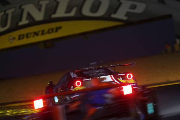 2017 Le Mans 24 Hours Circuit de la Sarthe, Le Mans, France. Thursday 15 June 2017 #71 AF Corse Ferrari 488 GTE: Davide Rigon, Sam Bird, Miguel Molina  World Copyright: JEP/LAT Images