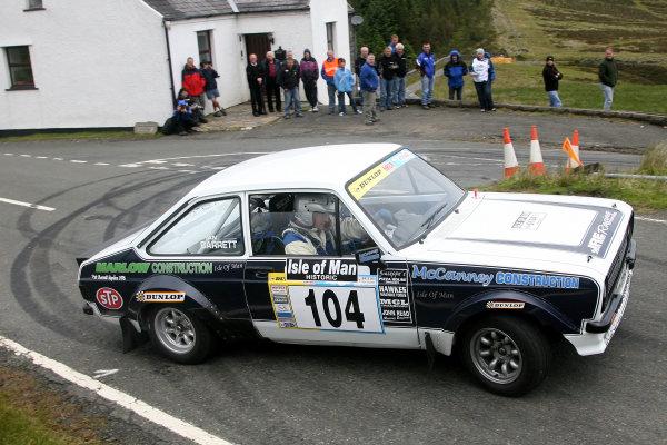 Isle of Man Historic Rally. 9th - 10th July 2010.Ryan Barrett/Paul McCann - Ford Escort.World Copyright: Ebrey/LAT Photographic.