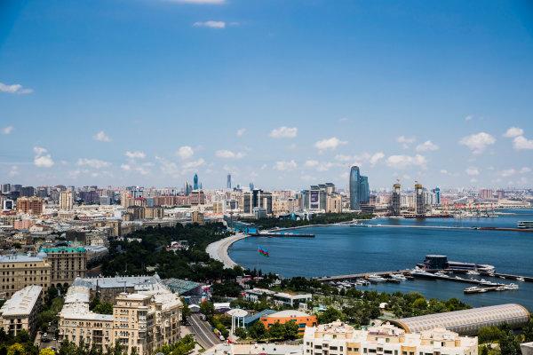 2017 FIA Formula 2 Round 4. Baku City Circuit, Baku, Azerbaijan. Wednesday 21 June 2017. A view of the city. Photo: Zak Mauger/FIA Formula 2. ref: Digital Image _56I5964