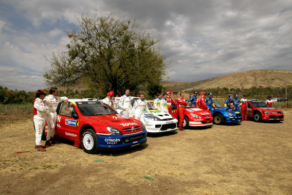 2004 FIA World Rally Champs. Round three, Corona Rally Mexico.11th-14th March 2004.WRC driver photoshoot at pre-event shakedown.World Copyright: McKlein/LAT