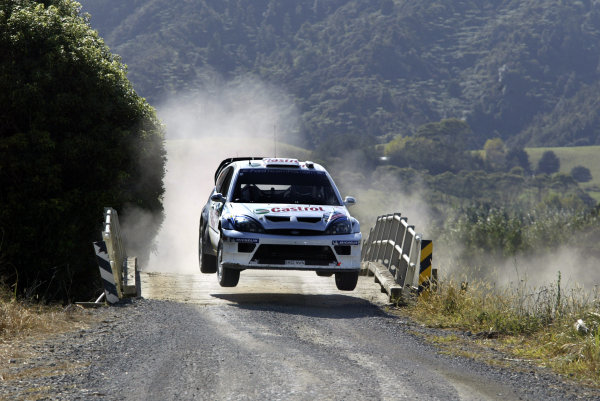 2004 FIA World Rally Champs. Round four, Propecia Rally New Zealand.15th-18th April 2004.Markko Martin, Ford, action.World Copyright: McKlein/LAT