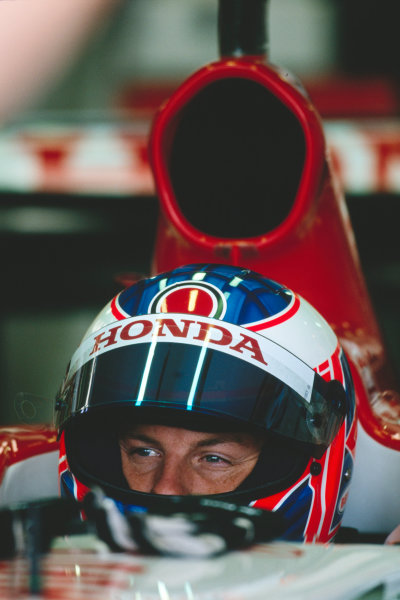2003 Formula One Testing, Silverstone, Egland.19th June 2003.Jenson Button, action.World Copyright LAT photographic.